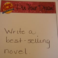 Coz's #dreampin: Write a best-selling novel