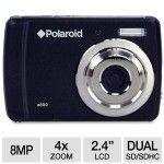 Polaroid CAA-800BC 8MP Digital Camera – 8 Megapixels, 4x Digital Zoom, 2.4 LCD, 16MB Internal Memory, Anti Shake, SD/SDHC Card Slot, Black, (Refurbished) at – $39.99 – TigerDirect.com