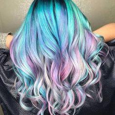 Unicorn pastel hair Source: unicorngalaxycom # unicorn pastel hair … - All For New Hairstyles Cute Hair Colors, Pretty Hair Color, Hair Dye Colors, Ombre Hair Color, Purple Hair, Pastel Rainbow Hair, Rainbow Hair Colors, Unicorn Hair Color, Unicorn Makeup