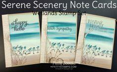 Serene Scenery Note Card Video Tutorial   Patty's Stamping Spot   Bloglovin'