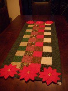 Trilho de natal em patchwork