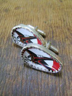 Red 'planes cufflinks   Flickr - Photo Sharing!