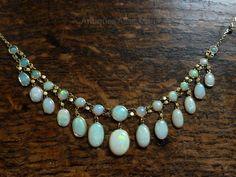 vintage opal necklace - Google Search