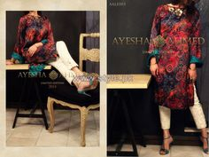 Ayesha Ahmed Party Dresses 2014 For Girls 4