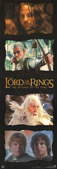 Lord of the Rings Heroes Return 2003 Cast 21x62 Door Poster