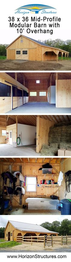 You don't need a loft! This modular barn has stalls, wash stall, tack room and plenty of storage for hay. You don't need a loft! This modular barn has stalls, wash stall, tack room and plenty of storage for hay.