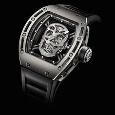 Richard Mille watches: Richard Mille RM 052 Tourbillon Skull. I want it!!!!