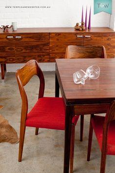 Mid century dining, Great Dane, Danish design