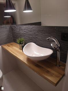 jesienna - Mała łazienka bez okna, styl nowoczesny - zdjęcie od NaNovo