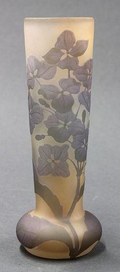 Emile Galle Cameo Glass Bud Vase