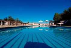 La piscina. #Mallorca (Balearic Islands, Spain). Enjoy your stay in #Mallorca in our charming hotel, a typical Catalonian country house, at the foot of the Puig de Randa. http://www.esrecoderanda.com/