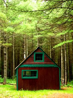http://freecabinporn.com/post/24204063846/green-trimmed-cottage-in-midcoast-maine