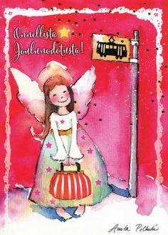 Christmas Angels, Christmas Time, Merry Christmas, Xmas, Christmas Ornaments, Angel Pictures, Magic, Holiday Decor, Illustration
