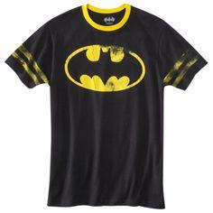 Batman Logo Men's Graphic Tee - Black