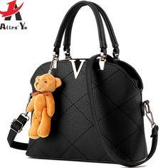 Attra Yo Women Leather Handbags Famous Brands Purse Messenger Shoulder