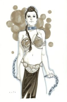 Noto - Princess Leia in her slave costume, in Pierre A.'s Noto, Phil Comic Art Gallery Room - 949048