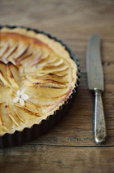 apple tart.  Liska (white plate on flickr)