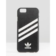 adidas Originals 3 Stripe iPhone 6/6S Case ($21) ❤ liked on Polyvore featuring accessories, tech accessories, black and adidas