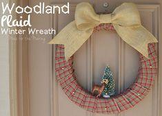 Super cute Woodland Plaid Winter Wreath.