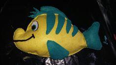Flounder la sirenita, fieltro, pez
