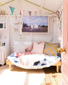 www.littlerugshop.com House Tour: A Bright Family Home in a Backyard Shed (Click link above in our profile to take the tour on Apartment Therapy!) : @hayleygemma by apartmenttherapy