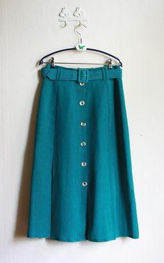 classic teal skirt, 70's.