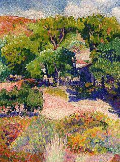 Cypresses - Henri-Edmond Cross, 1904