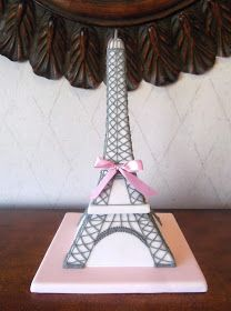 Bonjour! This Eiffel Tower cake was sculpted for a young lady that was celebrating her 16th birthday. Although the cake was served here in...
