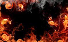 Download imagens fogo do quadro, padrão floral, flor de fogo, fumo, arte