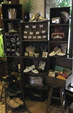 Fun way to display accessories at Toscana County Club golf shop, Indian Wells, CA