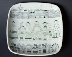 Arabia Finland EMILIA Square Plate, sold