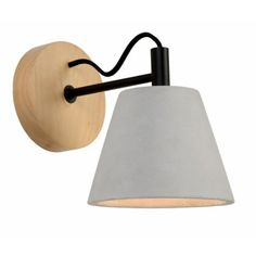 This charming wall lamp will delight you with its warm light and the concrete finish adds additional grandeur to your living room. This lamp looks especially great in modern environments. Bedside Wall Lights, Indoor Wall Lights, Bedside Lighting, Flush Lighting, Bedside Lamp, Bedroom Wall Lights, Wall Lamps, Swing Arm Wall Light, Swing Arm Wall Sconce