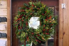 How to Make a Tone-on-Tone Yarn Ball Wreath Natural Christmas, Christmas Diy, Christmas Decorations, Holiday Decor, Homemade Christmas, Merry Christmas, Christmas Ornaments, Green Garland, Faux Flowers
