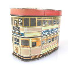 Vintage British Metal Tin Omnibus Bus by shabbyfrenchvintage