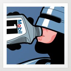 The secret life of heroes - Robot Drink Art Print by Greg-guillemin - $19.76