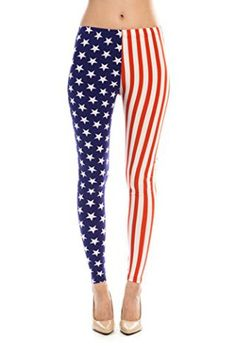 Womens-American-Flag-Ankle-Jeggings-Leggings-Patriotic-Pant . If you have the body Rock it!