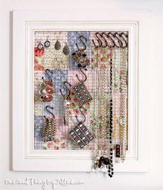 DIY Jewelry Organizer/Wall Decor