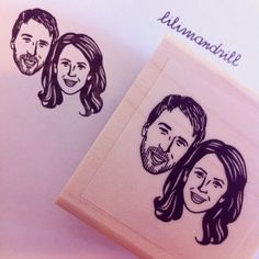 Custom Portrait Stamp @lilimandrill www.lilimandrill.fr #etsy #EtsyGifts #bachelorette #etsywedding #wedding #valentinesday #valentine #bride #diy #couple #stamp #personalizedgift #gift #weddinggift #DifferenceMakesUs #party #engagement #uniquegift
