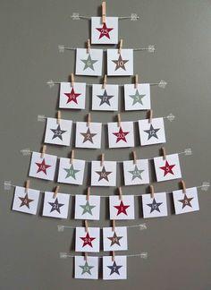 Magical and Creative DIY Advent Calendar Ideas You'll Love Wall Christmas Tree, Christmas Calendar, Noel Christmas, Christmas Countdown, Handmade Christmas, Christmas Offers, Advent Calenders, Diy Advent Calendar, Calendar Ideas