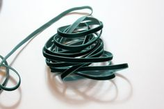 1/4 Velvet Ribbon  Hunter Green  5 yards by CreativeTrims on Etsy