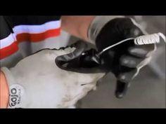 How do you repair a garage door sensor?