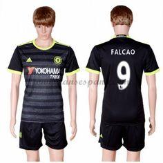 7d67222d7425c Camisetas De Futbol Chelsea Falcao 9 Segunda Equipación 2016-17 Maillot  Manches Longues