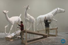 """Images from the production of """"World's Collide"""" for Panama's new national natural history and science center, the Bio Museo…..  The exhibit covers the interchange of animal species that occurred between North and South America when the Panamanian land bridge was exposed, joining the two continents. - Blue Rhino Studio"""