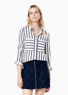 Striped cotton shirt -  Women | MANGO