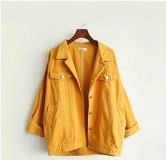 2017 spring autumn BF harajuku jeans jacket women coats street style denim coat for women candy color bat sleeve student jaqueta
