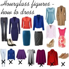 """Day 3 """"Hourglass figures - how to dress"""" by miscanthus on Polyvore #newyearstylechallenge"""