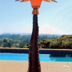 Palm Tree Patio Heater and Mister - Year Round Comfort!