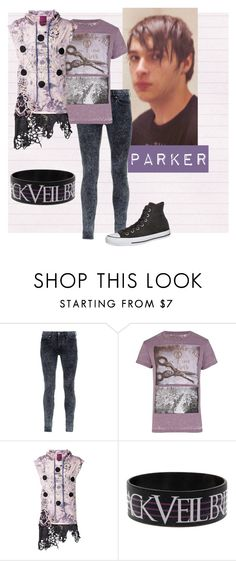 """""""Parker Dewitt"""" by rossvanderh ❤ liked on Polyvore featuring Topman, Holloway Road, CESAR ARELLANES and Converse"""