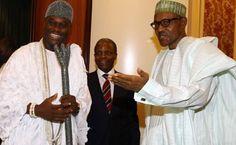 Oba Adeyeye Ogunwusi, Ojaja II, the Ooni of Ife visits President Buhari - http://wp.me/p4MFYY-LPH