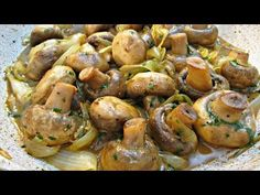 Recipes Mushrooms : Garlic Mushrooms and Onions - Side Dish or Over Steak - PoorMansGourmet - Recipes Mushrooms Video Recipes Mushrooms To get this complete recipe with all of the exact measurements and ingredients, check out my website: Garlic Recipes, Vegetable Recipes, Beef Recipes, Vegetarian Recipes, Cooking Recipes, Healthy Recipes, Marinated Mushrooms, Garlic Mushrooms, Asian Desserts